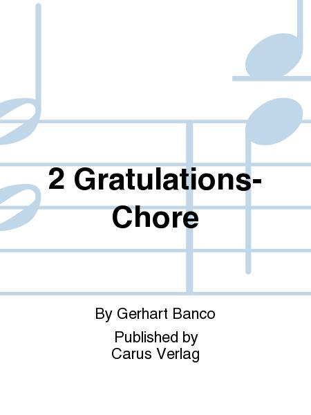 2 Gratulations-Chore