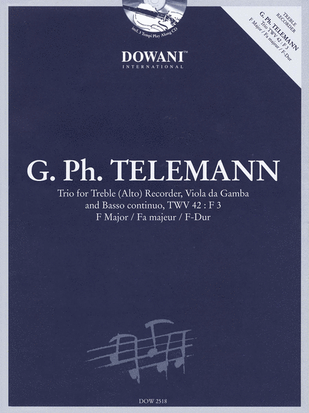 Telemann: Trio for Treble (Alto) Recorder, Viola, & Basso Continuo TWV42 F Major