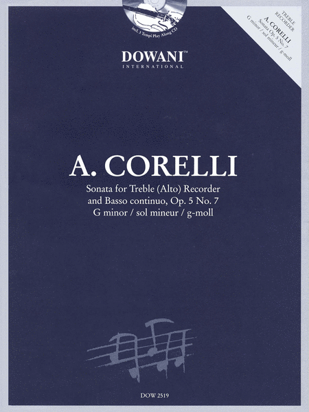 Corelli: Sonata for Treble (Alto) Recorder & Basso Continuo Op. 5, No. 7 G Minor