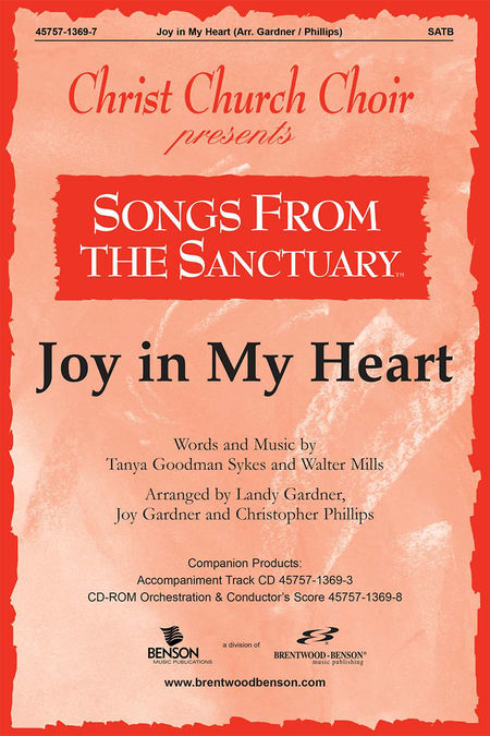 Joy In My Heart (Orchestra Parts and Conductor's Score, CD-ROM)