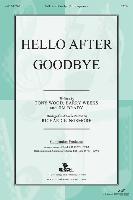 Hello After Goodbye (Split Track Accompaniment CD)