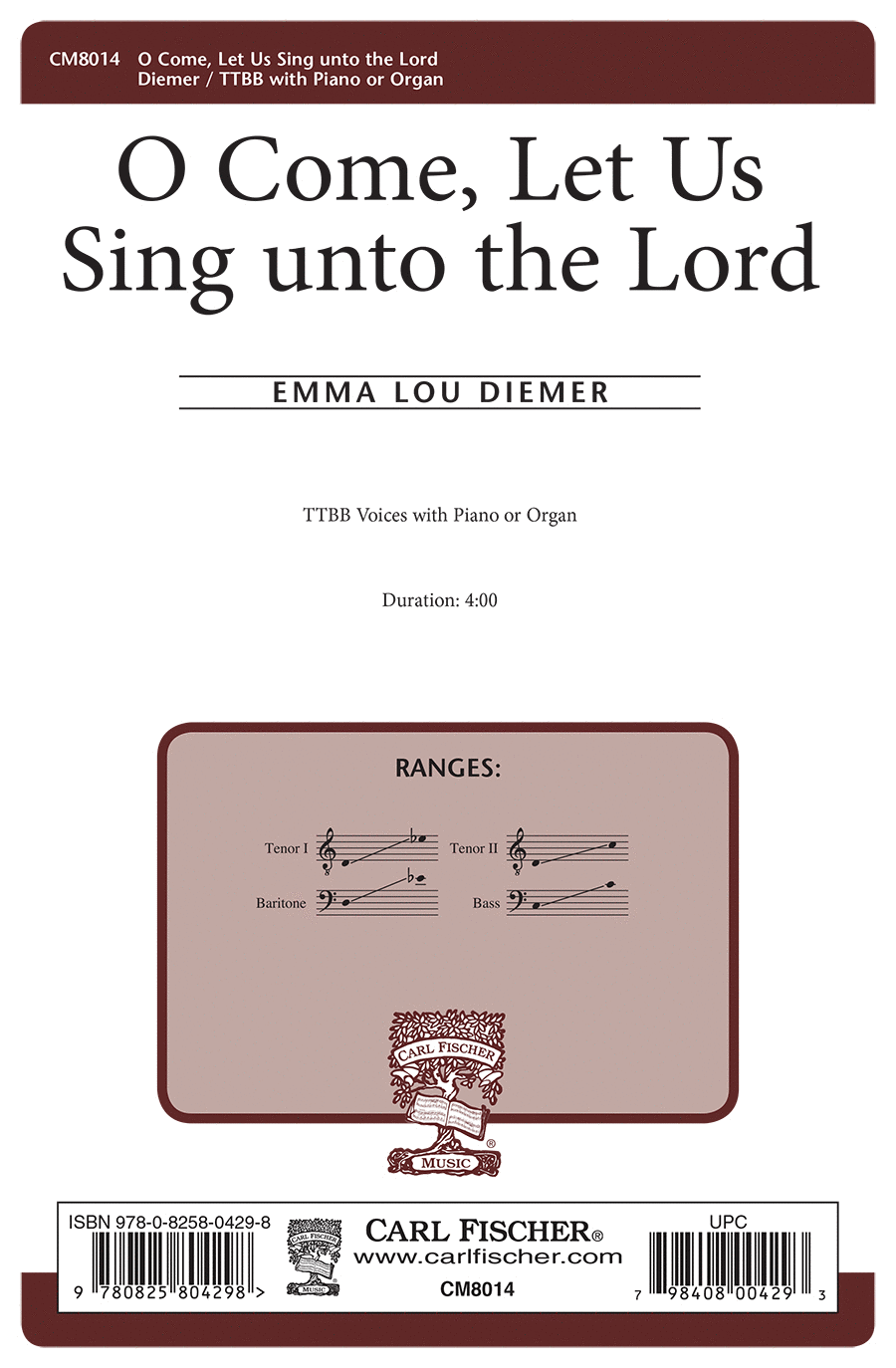 O Come, Let Us Sing Unto the Lord