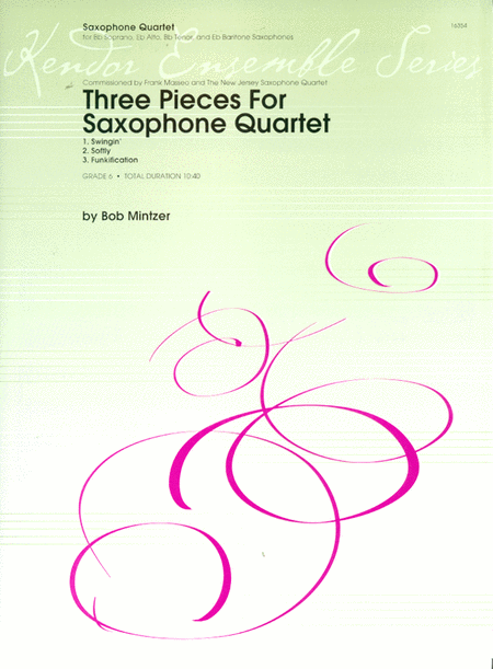 Three Pieces For Saxophone Quartet