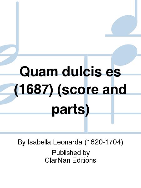 Quam dulcis es (1687) (score and parts)