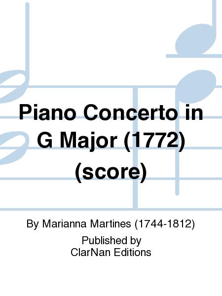 Piano Concerto in G Major (1772) (score)