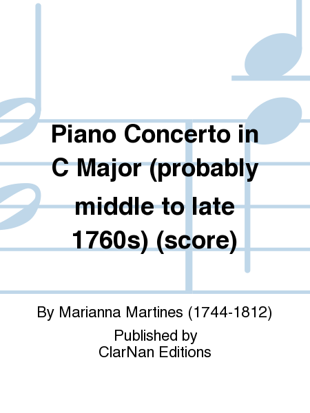 Piano Concerto in C Major (probably middle to late 1760s) (score)