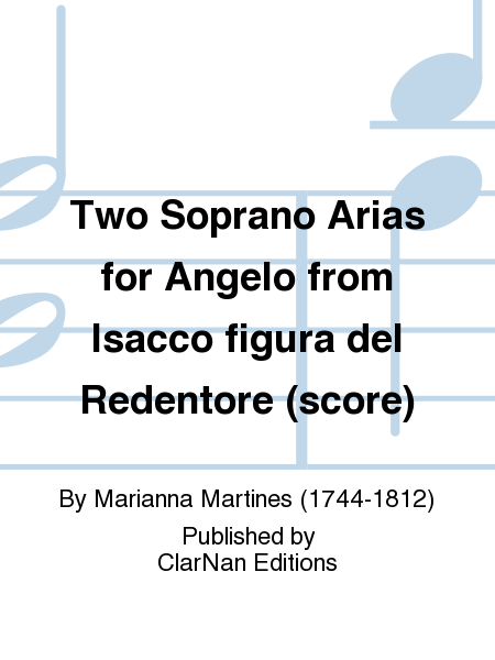Two Soprano Arias for Angelo from Isacco figura del Redentore (score)