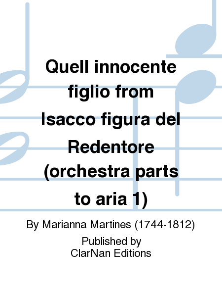 Quell innocente figlio from Isacco figura del Redentore (orchestra parts to aria 1)