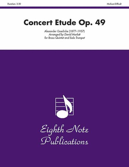 Concert Etude, Op. 49