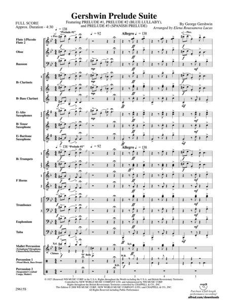 Gershwin Prelude Suite (Featuring Prelude #1, Prelude #2 (Blue Lullaby) and Prelude #3 (Spanish Prelude)) (score only)