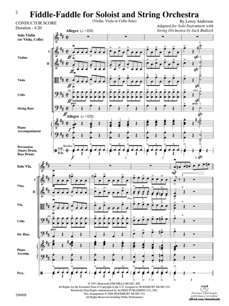 Fiddle-Faddle (for Soloist and String Orchestra) (score only)