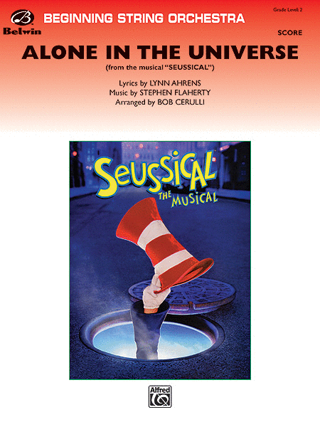 Alone in the Universe (from Seussical the Musical) (score only)