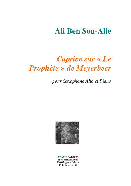 Caprice sur Le Prophete de Meyerbeer