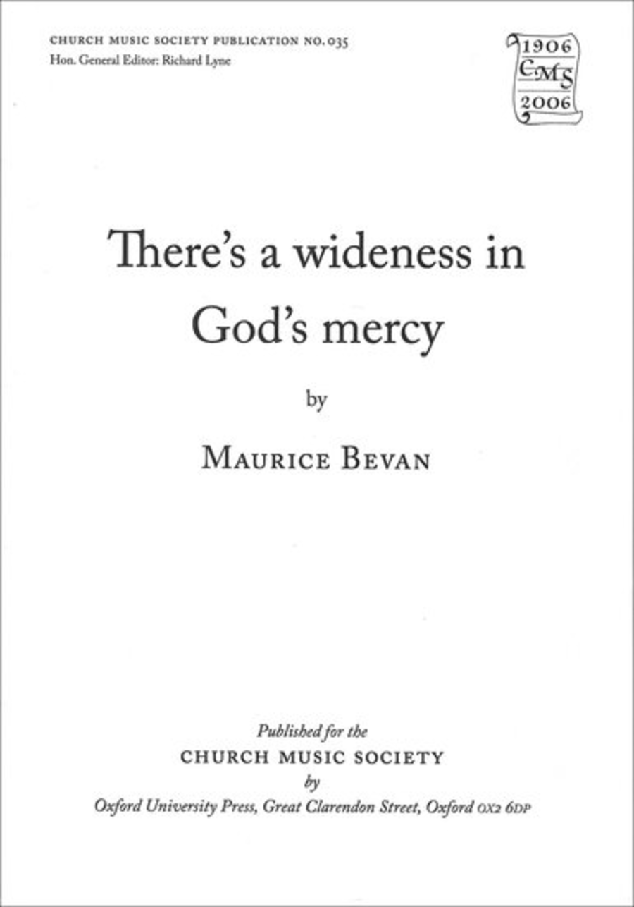 There's wideness in God's mercy