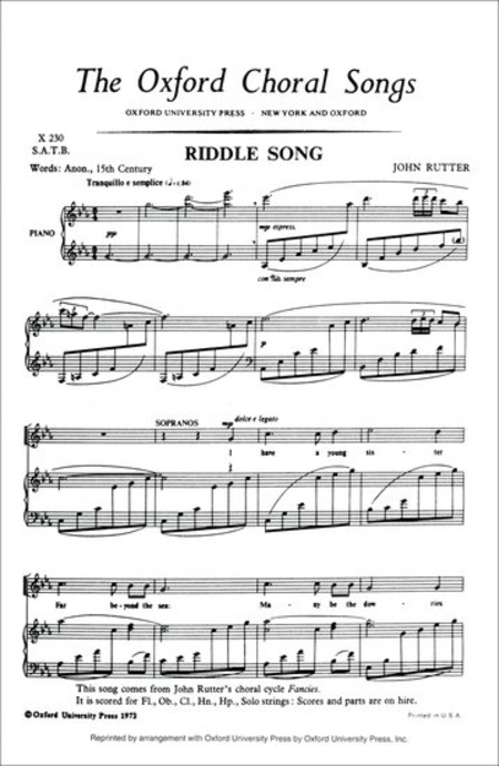 Riddle Song