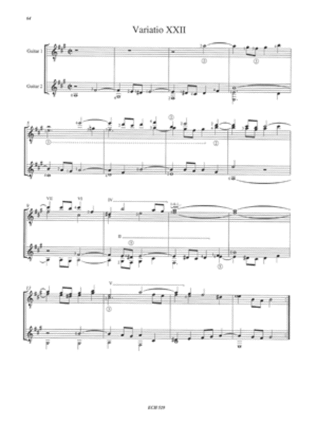 J. S. Bach: Goldberg Variations Arranged for 2 Guitars