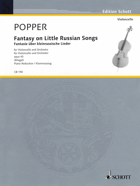 Fantasy On Little Russian Songs For Violoncello And Orchestra (cello/piano reduction)