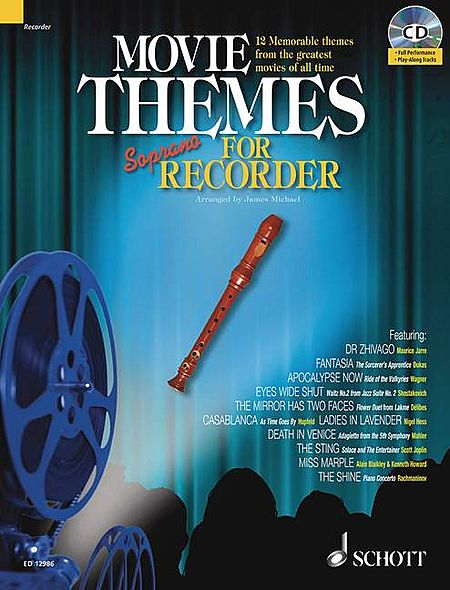 Movie Themes Play-along For Soprano Recorder Bk/cd