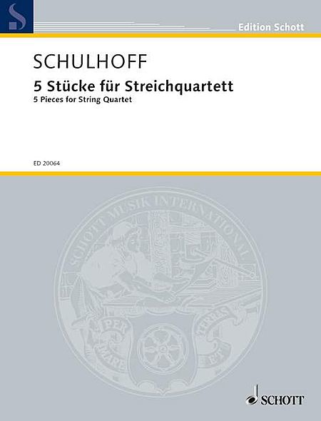 Five (5) Pieces For String Quartet Score And Parts
