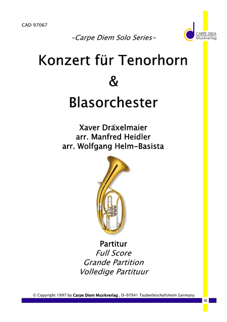 Konzert fur Tenorhorn (Solo + Blasorchester)