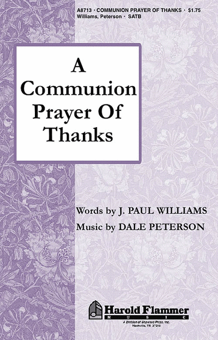 A Communion Prayer of Thanks