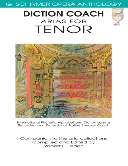Diction Coach - G. Schirmer Opera Anthology (Arias for Tenor)