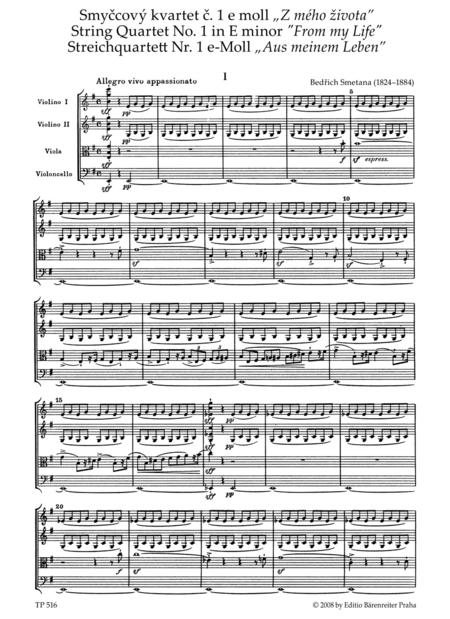 String Quartet No. 1 e minor 'Aus meinem Leben'