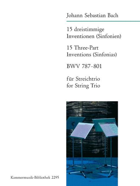 15 dreistimmige Inventionen BWV 787-801 (Str-Trio)