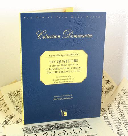 Six quartets for violin, flute, viol or cello and continuo.