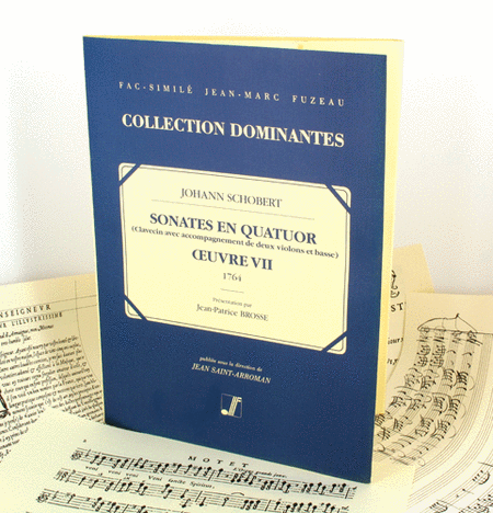 Sonatas in four parts for the harpsichord accompanied by two violins and bass - Opus VII.