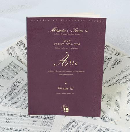 Methods & Treatises Viola - Volume 3 - France 1800-1860