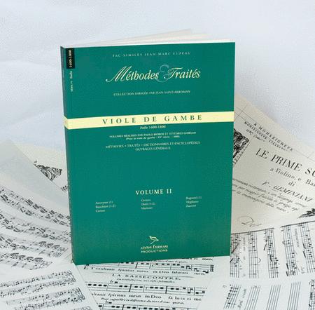 Methods & Treatises Viola da gamba - Volume 2 - Italy 1600-1800