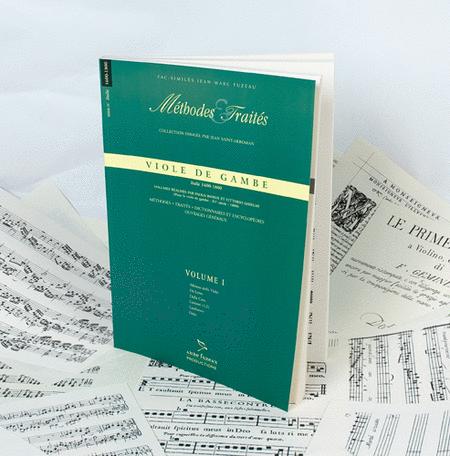 Methods & Treatises Viola da gamba - Volume I - Italy 1600-1800