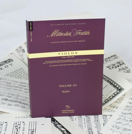 Methods & Treatises Violin - Baillot - Volume 3 - France 1800-1860