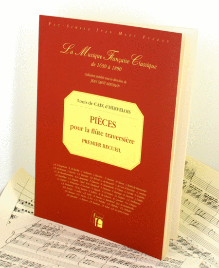 Caix d'Hervelois Pieces for flute with continuo bass Flute continuo