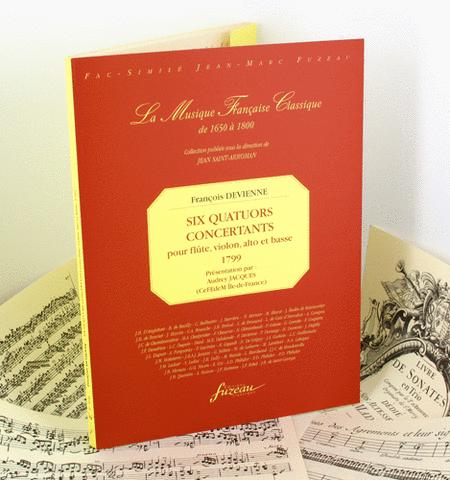 Six quatuors concertants for flute, violin, viola and bass, opus 66