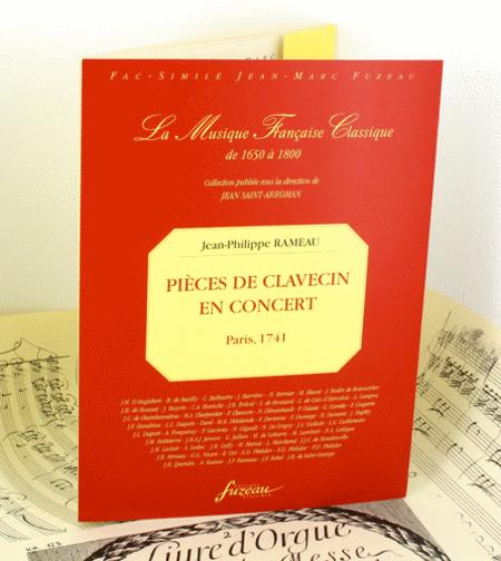 Pieces de clavecin en concerts avec un violon ou une flute, et une viole ou un deuxieme violon