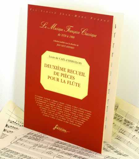 Caix d'Hervelois Second volume of pieces for flute with continuo Flute