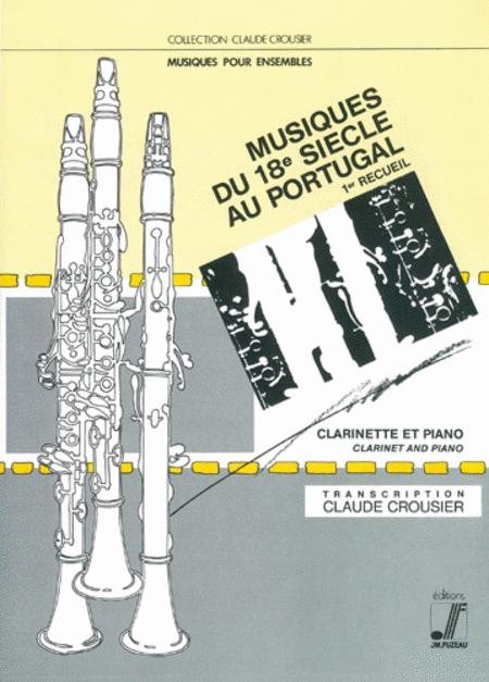 Seixas XVIIIe century Portuguese music - Vol 1 Clarinet Piano