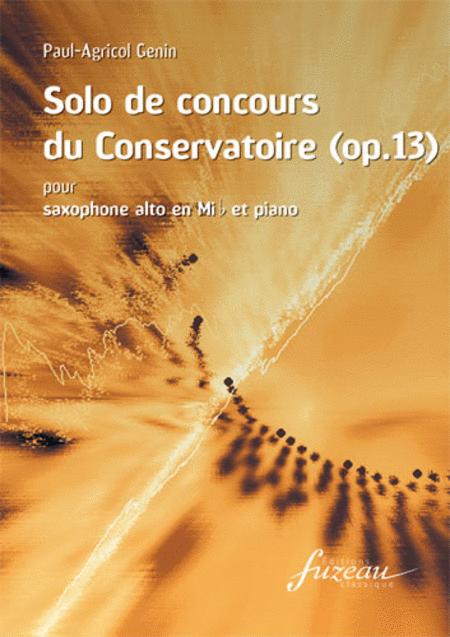 Solo de concours du Conservatoire (Op. 13)
