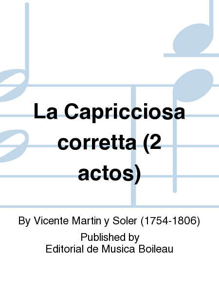 La Capricciosa corretta (2 actos)