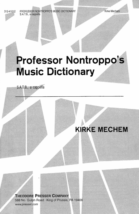 Professor Nontroppo's Music Dictionary