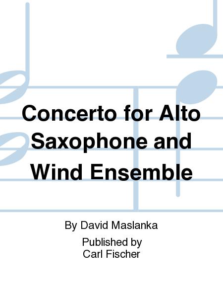 Concerto for Alto Saxophone and Wind Ensemble