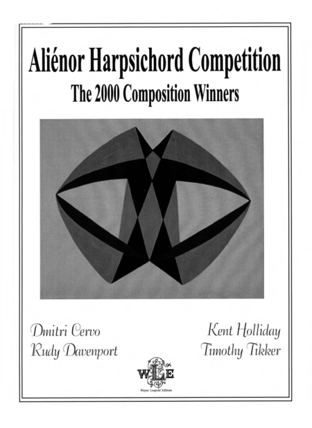 Alienor Harpsichord Competition: The 2000 Composition Winners