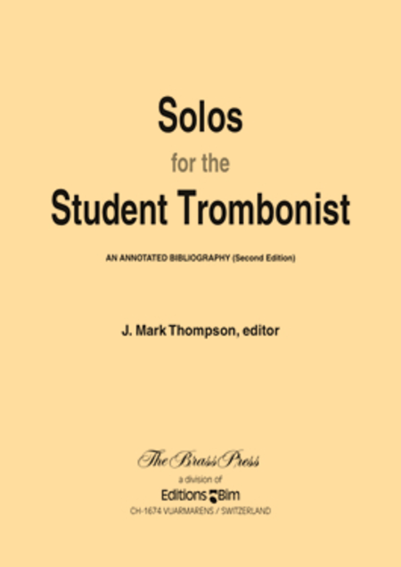 Solos for the Student Trombonist