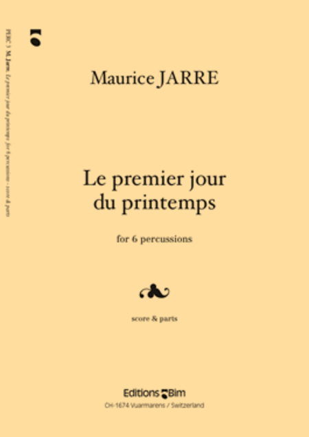 Le premier jour du printemps sheet music by maurice jarre sheet music plus - 1er jour du printemps ...