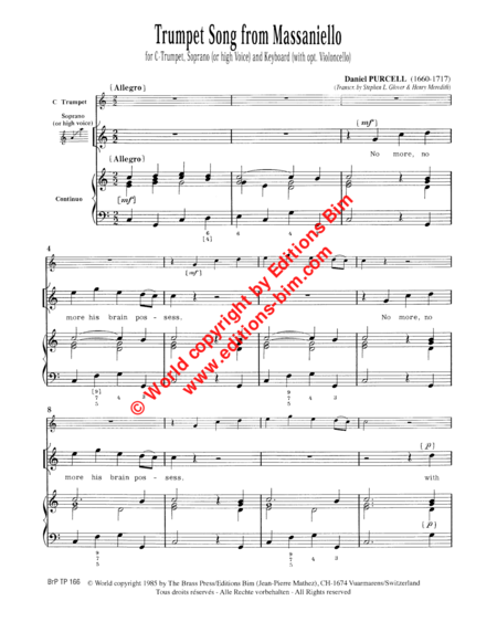 Trumpet Song (from Massaniello)
