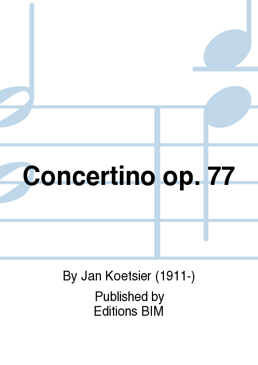 Concertino op. 77
