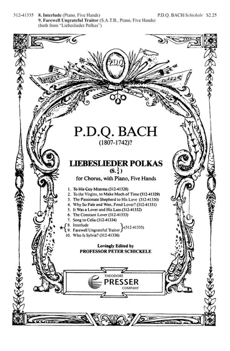 8. Interlude & 9. Farewell Ungrateful Traitor from Liebeslieder Polkas