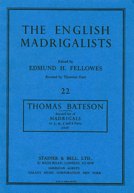 Second Set of Madrigals (1618)